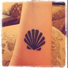 Scallop tattoo.