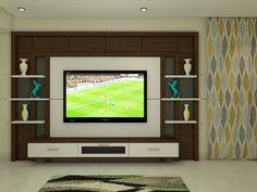 House Ceiling Design, Bedroom False Ceiling Design, Tv Wall Design, Wall Units, Tv Units, Simple Tv Unit Design, Tv Cupboard Design, Tv Unit Interior Design, Pooja Room Door Design