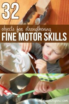 32 objects that help kids strengthen their fine motor skills (plus activities to…