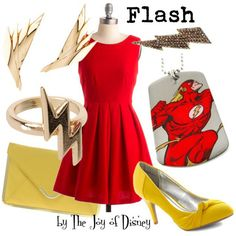 Inspired by the Flash by DC Comics! Ideas for bridesmaids and for date night te he!