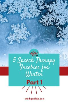 Looking for winter speech and language activities? In this post, I've rounded up 5 fabulous and free speech and language resources you can use this winter. | The Digital SLP
