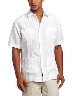 2d381f9b19 Black Friday Cubavera Men s Short Sleeve Embroidered Guayabera