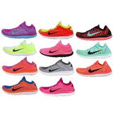 Womens Wmns Nike Free Flyknit 4.0 Nike Free Run Barefoot Running Shoes Pick 1 #Nike #AthleticSneakers