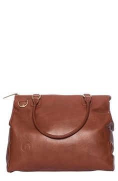 Oemi Baby 'Brownstone' Leather Diaper Bag available at #Nordstrom www.oemibaby.com #newmom #baby #diaperbag #handbag