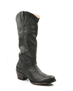 Women's Hand Burnished Black Ficcini Boot