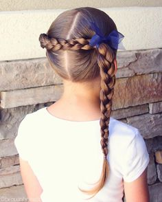 Back braid into a side braid. I've done a lot of versions of this style and I love them all.