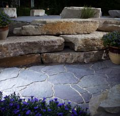 Pavers..... Mega Arbel blends in beautifully with the natural landscape.