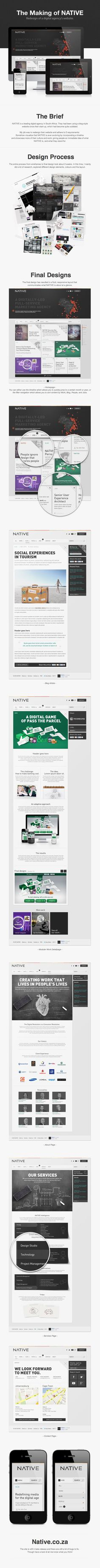 Redesign of a digital agency's website by Nelleke van der Maas, via Behance