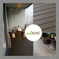 Make your balcony safe for you and your family. evoDECK is formulated with an impermeable layer so there won't be any nasty fungus growing on it. It guarantees no slippery deck and no cracking plank that would hurt your foot. Outdoor Decking, Balcony Design, Plank, Singapore, Condo, Eco Friendly, House Design, Flooring, Interior Design