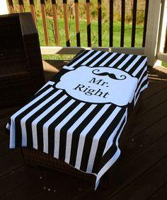 Love this Swirl Designs 'Mr. Right' Beach Towel by Swirl Designs on #zulily! #zulilyfinds