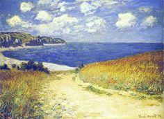 Alley Near Pourville, 1882. Claude Monet.