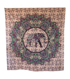 Beautiful Light pink color Elephant Printed Wall Hanging tapestry.