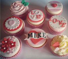 Personalised Valentines cupcakes https://www.facebook.com/simplycupcakesbydonna