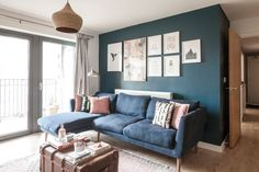 homewings before and after, living room design, living room interior design ideas Living Room Ideas New Build, New Living Room, Interior Design Living Room, Living Room Designs, Small Living, Flat Interior Design, Apartment Interior, The Help, Cosy