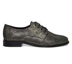 derby cuir argent vieilli - Derbies - Chaussures femme