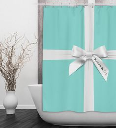 name u0026 co shower curtain tiffany blue