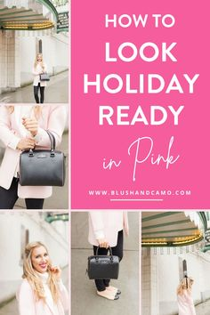 Traditionally when you're thinking about what to wear for a holiday party, you think of red or green. But even during the holidays, I can't let go of my love of all things PINK! Whether you're more traditional or trendy, I guarantee you can use these tips and tricks for wearing pink during the holiday season!  #pinkismyfavorite #wearpink #christmasoutfit #holidayoutfit