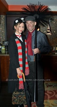 Coolest Mary Poppins and Chimney Sweep Couple Costume