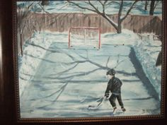 Sean practicing his shot Hockey, Painting, Art, Art Background, Painting Art, Kunst, Gcse Art, Paintings, Painted Canvas