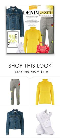 """""""Love Me Long Time"""" by sherieme ❤ liked on Polyvore featuring Mira Mikati, Acne Studios, Vince, Karen Millen, adidas, Balenciaga, denim, denimjackets and polyvorecontest"""