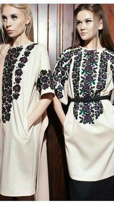 Привет, Natalia! Не пропустите новые Пины... Lace Beadwork, Russian Fashion, Russian Style, Ethno Style, Modern Hijab, Traditional Fashion, Embroidery Fashion, Embroidered Tunic, Peasant Tops