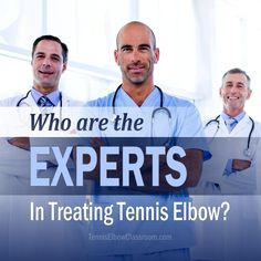 Who are the true experts and authorities when it comes to treating Tennis Elbow and Golfer's Elbow injuries? Full post: https://tenniselbowclassroom.com/tennis-elbow-treatments/who-are-the-tennis-elbow-experts/ #TennisElbow #GolfersElbow