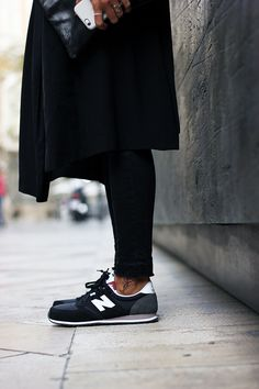 new balance casual mujer negras