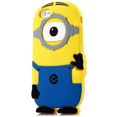 3D iPhone 6 Minions Despicable Me Soft Silicon Case for iPhone 6 Case iPhone 6 Plus Case (Blue One Eye)