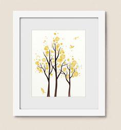 8 x 10 Canary Yellow Home Decor, Tree Wall Art Print Living Room Decor (318) door NaturesHeavenlyArt op Etsy https://www.etsy.com/nl/listing/196391851/8-x-10-canary-yellow-home-decor-tree