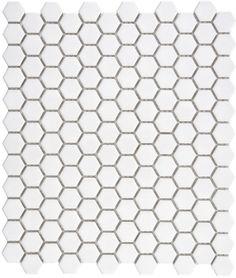 White Hexagonal Gloss Mosaic