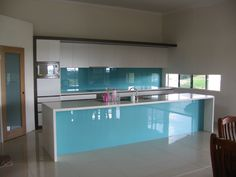 turquoise glass splashbacks - Google Search