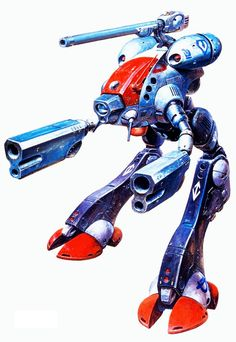 Macross, Tactical Pod Glaus, by takani yoshiyuki Stolen for BattleTech and renamed the GM-Marauder. Most badass mech I have seen since I was 7 years old.