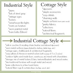 industrial cottage decor | Here are some inspiration photos from my Pinterest board that show ...
