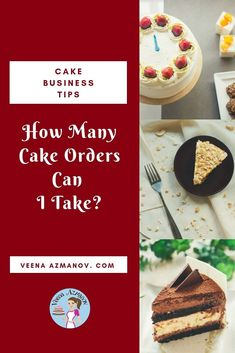 Having a cake business from home can be difficult because you managing home and business which raises the question, how many cake orders can I take? Cake Business, Business Tips, How Many, Cake Decorating Tutorials, Take My, I Can, Cakes, Canning, This Or That Questions