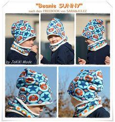 Ebook Beanie KU 39-58 cm  Bei dem Beanie Sunny handelt es sich um ein Ebook für einen Beanie.  Genäht werden kann der Beanie aus Jersey, Interlock, Fleece, etc.! Der Kreativität sind hier keine Grenzen gesetzt.  Dieses Ebook beinhaltet die Größen für einen KU von 39-58 cm sowie detaillierte Fotos zu jedem Arbeitsschritt - auch Nähanfängerinnen kommen damit sehr gut zurecht! -> Zum Verkauf steht nur die Anleitung, die Bilder zeigen lediglich gefertigte Beispiele <-