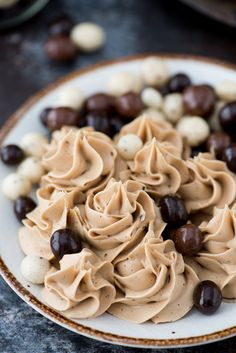 4 ingredient espresso buttercream recipe with instant coffee granules! This is now our go-to coffee frosting.