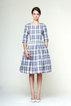 Edith - Tartan Cotton Dress von Mrs.Pomeranz auf DaWanda.com