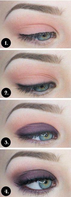 Eyeshadow tutorial for blue eyes