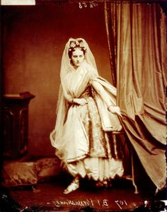Virginia Oldoini, Countess of Castiglione(1837–1899), better known as La Castiglione, was an Italianaristocratwho achieved notoriety as a mistress of EmperorNapoleon IIIof France.The Countess was known for her beauty and her flamboyant entrances in elaborate dress at the imperial court.