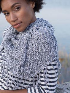 96e3ab0c49a5a7 Easy Knitting! Lulu Fringe Shawl Knitting Pattern Easy Knitting Projects