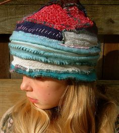 zipper pouch hat by eanie meany, via Flickr