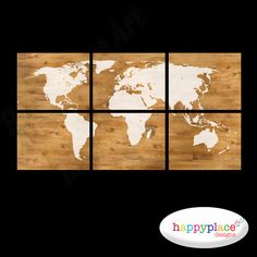 Large World Map poster wall art with printable texture and cream map with slight grain showing through. Six high resolution digital Large World Map Poster, Wood World Map, Wood Grain Texture, Printable Maps, Timber Wood, Map Art, Poster Wall, Cream, Display Ideas