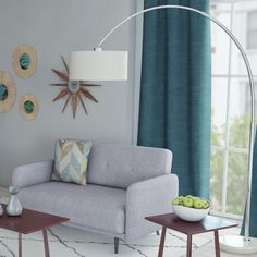 """Found it at AllModern - Maui 81"""" Arched Floor Lamp"""