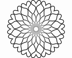 Mandalas to paint on pinterest mandala coloring pages for Blank flower coloring pages