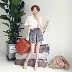 J78945 Korean fashion lace shawl casual chiffon shirt [J78945] - $7.10 : China,Korean,Japan Fashion clothing wholesale and Dropship online-Be the most beautiful Lady