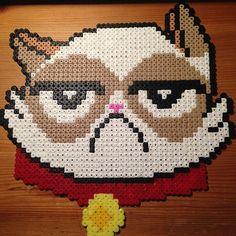 Grumpy cat perler beads by  m.barkani