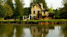 For the symbolism and irony of it: The Hameau de la Reine in Versailles, where Marie Antoinette played milkmaid.