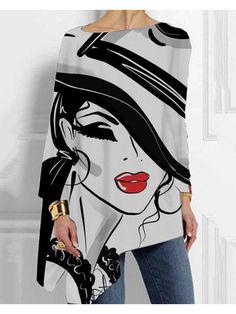 Tie Dye Shorts, Printed Shirts, Spring Fashion, My Style, Lady, Long Sleeve, Bat Sleeve, Womens Fashion, Sleeves
