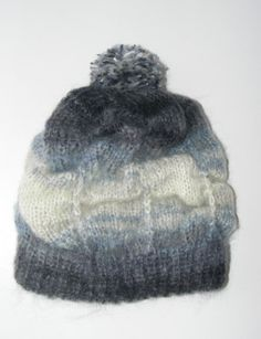 Kniting Slouch Hat for Womengray and blueSlouch by seno on Etsy, $35.00