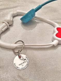 Stethoscope ID tag  Nurse  Doctor  Paramedic by HandToHeartJewelry